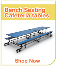 Bench Seating Cafeteria Tables