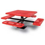 Surface Mounted Square Picnic Table