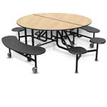 8 Stool Round Cafeteria Table 60