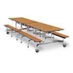 Mobile Lunch Tables Bench Seat (15