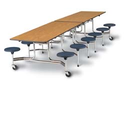 Mobile Lunch Tables 16 Stools (15